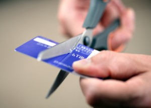 Credit Card and Scissor