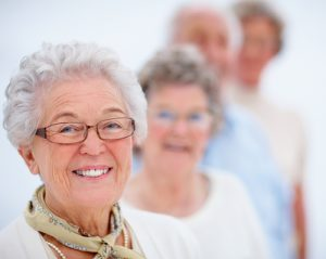 Smiling retirees